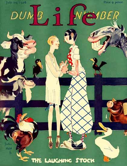 John Held Jr Life Magazine Laughing Stock 1926-07-29 Copyright | Life Magazine Graphic Art Covers 1891-1936