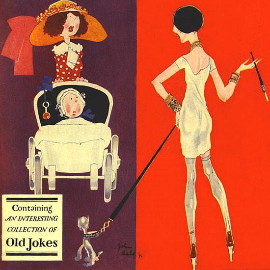 John Held Jr Life Magazine Old Jokes 1927-05-19 Copyright crop | Best of Vintage Cover Art 1900-1970