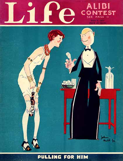 John Held Jr Life Magazine Pulling for Him 1927-07-07 Copyright | Sex Appeal Vintage Ads and Covers 1891-1970