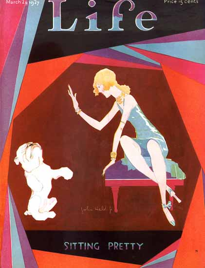 John Held Jr Life Magazine Sitting Pretty 1927-03-24 Copyright | Life Magazine Graphic Art Covers 1891-1936