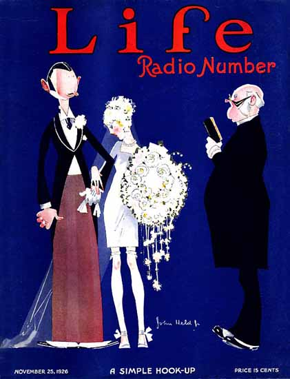 John Held Jr Life Magazine Slim Hook-Up 1926-11-25 Copyright | Life Magazine Graphic Art Covers 1891-1936