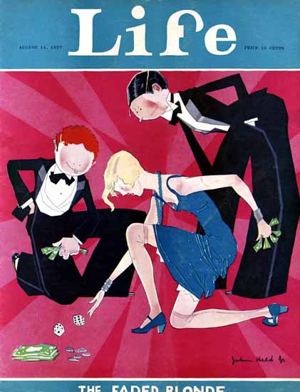John Held Jr Life Magazine The Faded Blonde 1927-08-11 Copyright | Life Magazine Graphic Art Covers 1891-1936