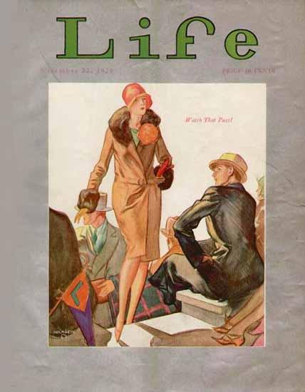 John Holmgren Life Humor Magazine 1929-11-22 Copyright | Life Magazine Graphic Art Covers 1891-1936