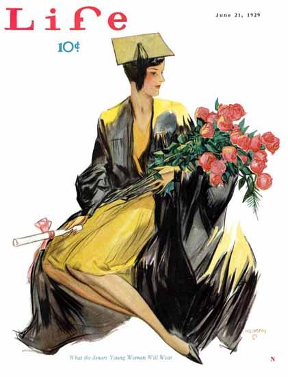John Holmgren Life Magazine Smart Woman 1929-06-21 Copyright | Life Magazine Graphic Art Covers 1891-1936