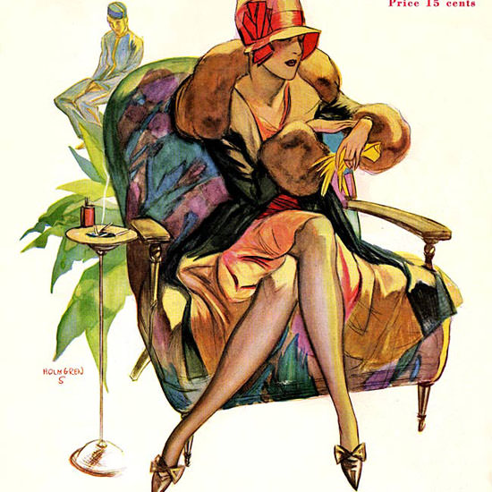John Holmgren Life Magazine Uncalled For 1929-01-18 Copyright crop | Best of 1920s Ad and Cover Art