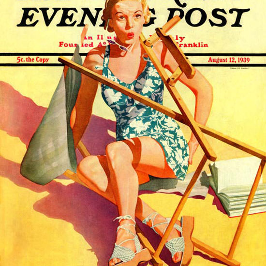 John Hyde Phillips Saturday Evening Post 1939_08_12 Copyright crop | Best of 1930s Ad and Cover Art