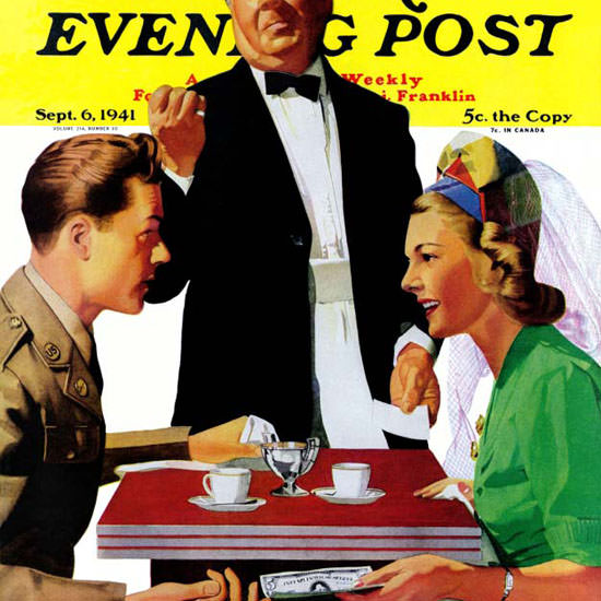 John Hyde Phillips Saturday Evening Post 1941_09_06 Copyright crop | Best of Vintage Cover Art 1900-1970