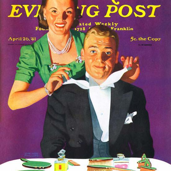 John Hyde Phillips Saturday Evening Post Tux 1941_04_26 Copyright crop | Best of Vintage Cover Art 1900-1970