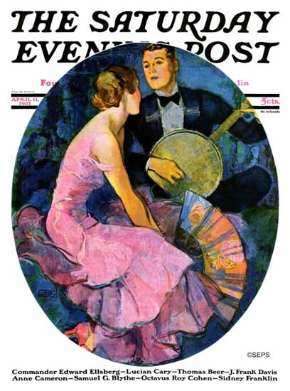John La Gatta Cover Artist Saturday Evening Post 1931_04_11 | The Saturday Evening Post Graphic Art Covers 1931-1969