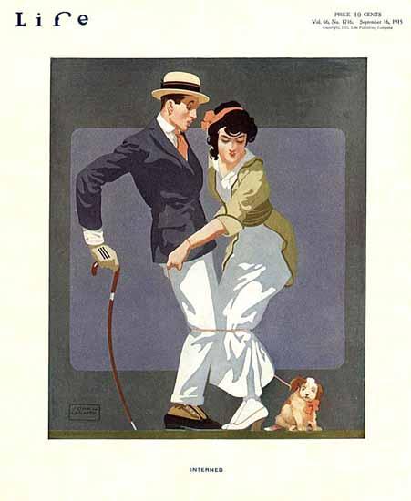 John La Gatta Life Magazine Interned 1915-09-16 Copyright | Life Magazine Graphic Art Covers 1891-1936