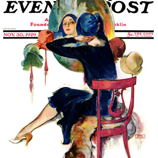 John La Gatta Saturday Evening Post 1929_11_30 Copyright crop | Best of Vintage Cover Art 1900-1970