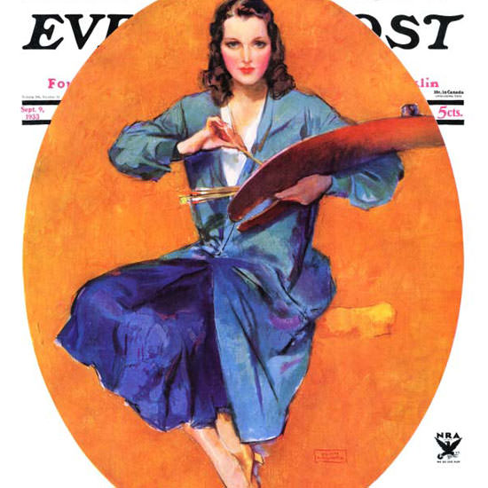 John La Gatta Saturday Evening Post 1933_09_09 Copyright crop | Best of Vintage Cover Art 1900-1970