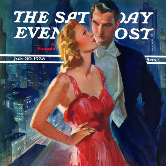 John La Gatta Saturday Evening Post Balcony 1938_07_30 Copyright crop | Best of Vintage Cover Art 1900-1970