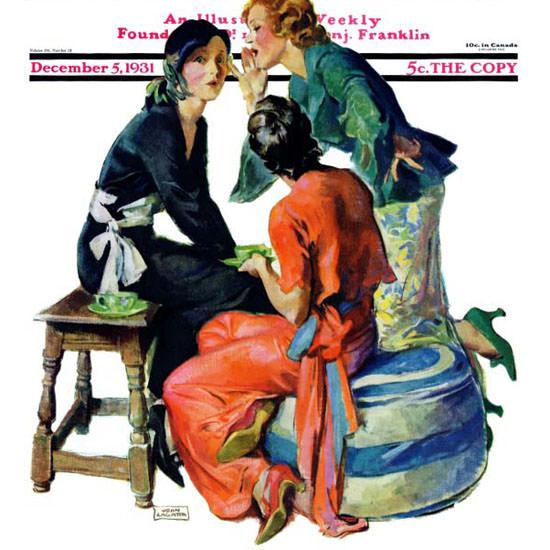John La Gatta Saturday Evening Post Gossip 1931_12_05 Copyright crop | Best of 1930s Ad and Cover Art