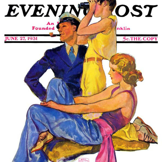 John La Gatta Saturday Evening Post Newport 1931_06_27 Copyright crop | Best of 1930s Ad and Cover Art