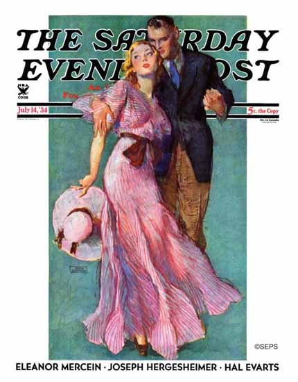 John La Gatta Saturday Evening Post On a Date 1934_07_14 Sex Appeal | Sex Appeal Vintage Ads and Covers 1891-1970