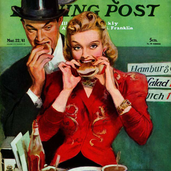John La Gatta Saturday Evening Post Snack 1941_03_22 Copyright crop | Best of Vintage Cover Art 1900-1970