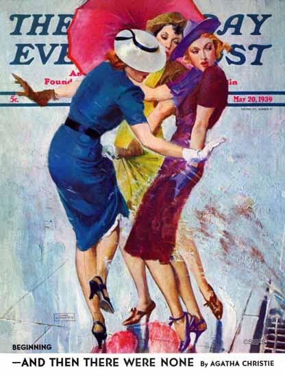 John La Gatta Saturday Evening Post Splashed 1939_05_20 | The Saturday Evening Post Graphic Art Covers 1931-1969