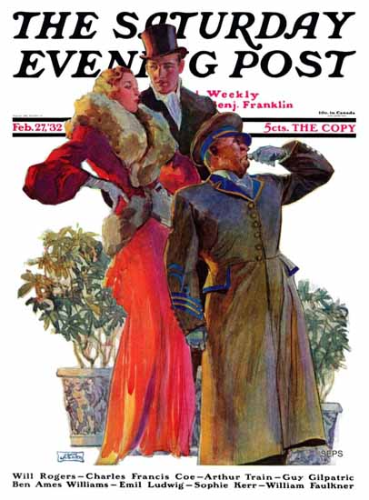 John La Gatta Saturday Evening Post Taxi 1932_02_27 | The Saturday Evening Post Graphic Art Covers 1931-1969