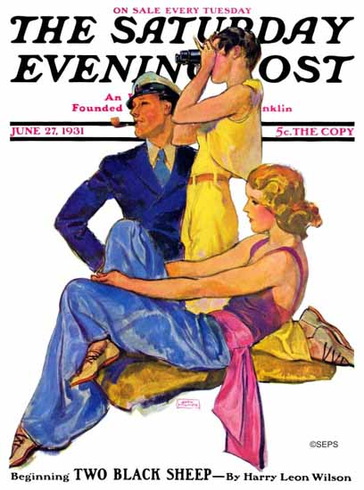 John La Gatta Saturday Evening Post The Newport Set 1931_06_27 | The Saturday Evening Post Graphic Art Covers 1931-1969