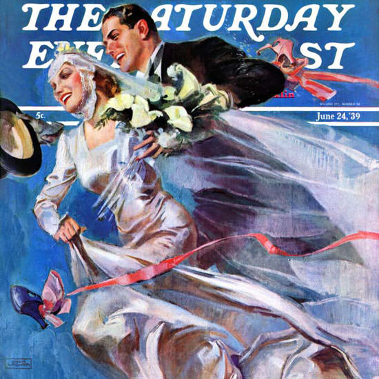 John La Gatta Saturday Evening Post Wedding 1939_06_24 Copyright crop | Best of 1930s Ad and Cover Art