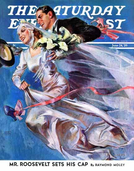 John La Gatta Saturday Evening Post Wedding Day 1939_06_24 | The Saturday Evening Post Graphic Art Covers 1931-1969