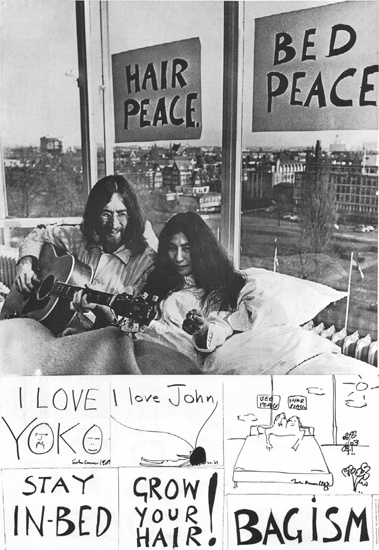 John Lennon And Yoko Ono Hair Peace Bed Peace | Sex Appeal Vintage Ads and Covers 1891-1970