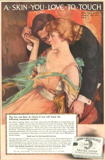 John M Woodburys Facil Soap Skin You Love 1910 | Sex Appeal Vintage Ads and Covers 1891-1970