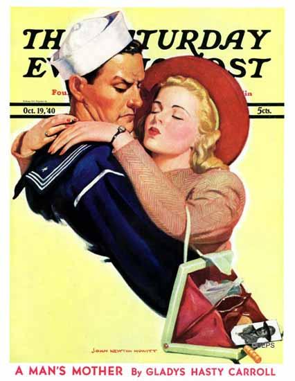 John Newton Howitt Cover Artist Saturday Evening Post 1940_10_19   The Saturday Evening Post Graphic Art Covers 1931-1969