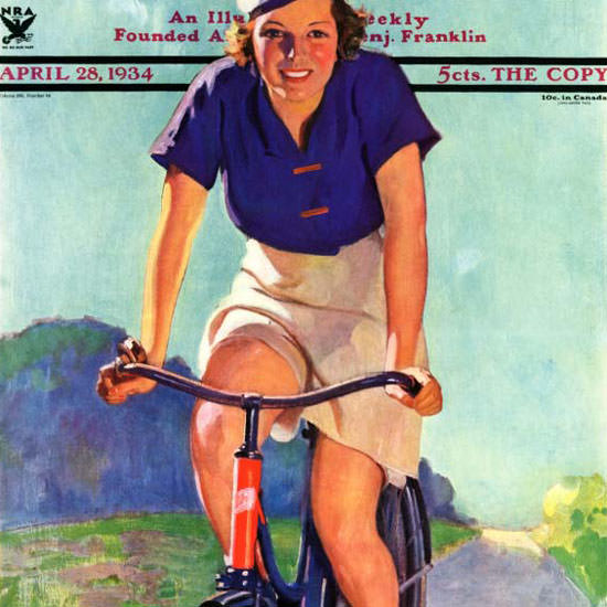John Newton Howitt Saturday Evening Post 1934_04_28 Copyright crop | Best of Vintage Cover Art 1900-1970