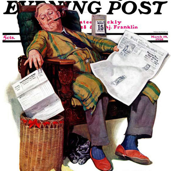 John Newton Howitt Saturday Evening Post 1938_03_19 Copyright crop | Best of Vintage Cover Art 1900-1970
