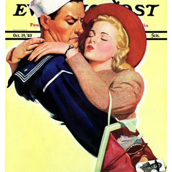 John Newton Howitt Saturday Evening Post 1940_10_19 Copyright crop | Best of Vintage Cover Art 1900-1970