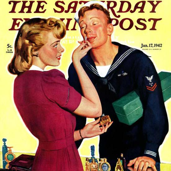 John Newton Howitt Saturday Evening Post 1942_01_17 Copyright crop | Best of Vintage Cover Art 1900-1970