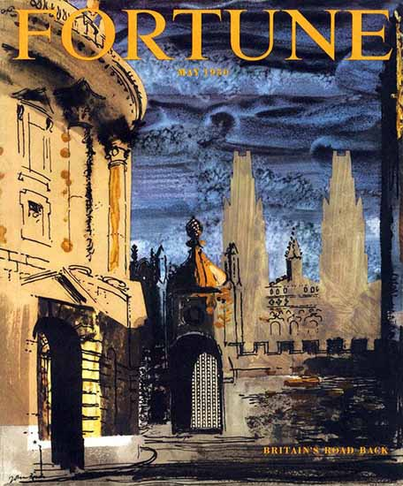 John Piper Fortune Magazine May 1950 Copyright | Fortune Magazine Graphic Art Covers 1930-1959