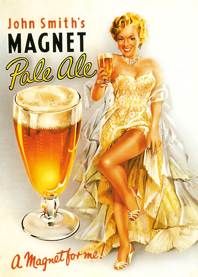 John Smiths Magnet Pale Ale Pin Up Girl | Sex Appeal Vintage Ads and Covers 1891-1970