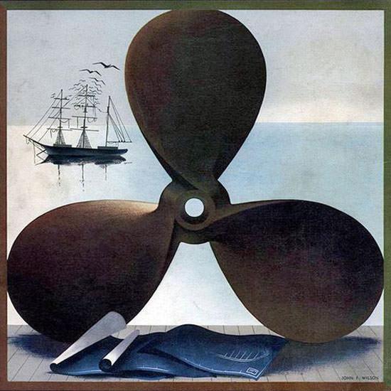 John Wilson Fortune Magazine October 1940 Copyright crop | Best of Vintage Cover Art 1900-1970