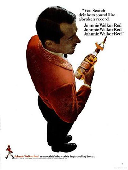 Johnnie Walker Red Scotch 1967 The Barman | Sex Appeal Vintage Ads and Covers 1891-1970
