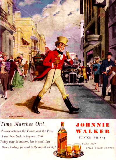 Johnnie Walker Scotch Whisky 1947 | Vintage Ad and Cover Art 1891-1970