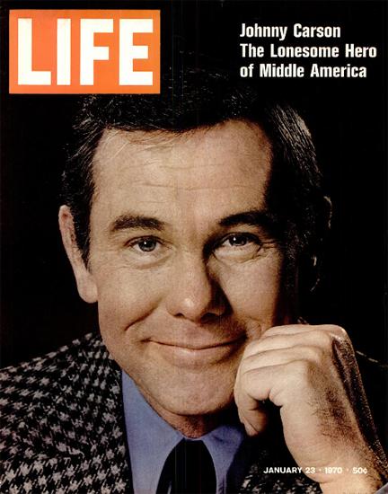 Johnny Carson The Lonesome Hero 23 Jan 1970 Copyright Life Magazine | Life Magazine Color Photo Covers 1937-1970