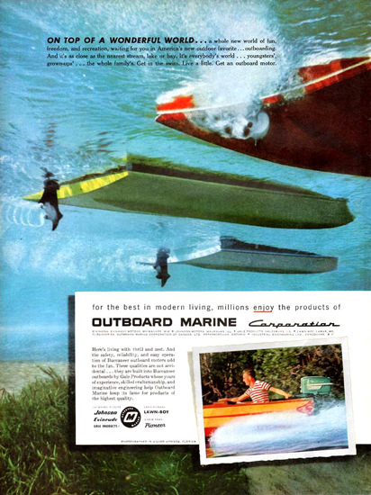 Johnson Outborad Marine 1957 | Vintage Ad and Cover Art 1891-1970