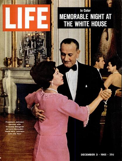 Johnson dances Princess Margaret 3 Dec 1965 Copyright Life Magazine | Life Magazine Color Photo Covers 1937-1970