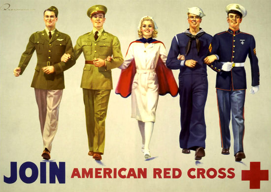 Join American Red Cross | Vintage War Propaganda Posters 1891-1970