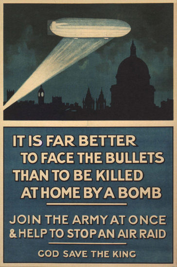 Join The Army Help To Stop An Air Raid UK | Vintage War Propaganda Posters 1891-1970