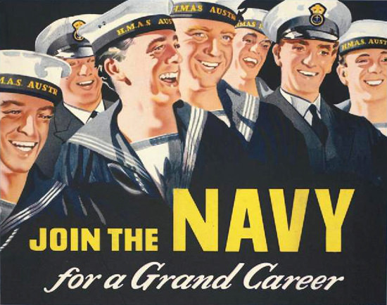 Join The Navy For A Grand Career | Vintage War Propaganda Posters 1891-1970
