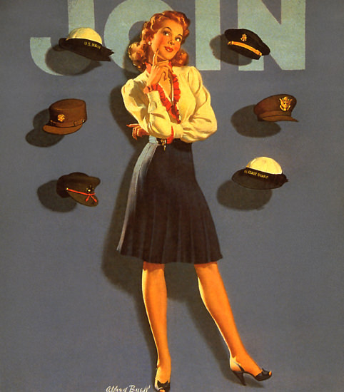 Join The US Forces Girl | Vintage War Propaganda Posters 1891-1970