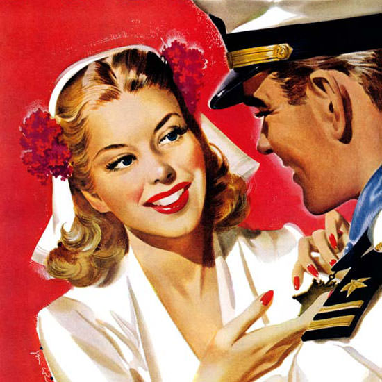 Jon Whitcomb Saturday Evening Post Naval 1942_08_08 Copyright crop | Best of 1940s Ad and Cover Art
