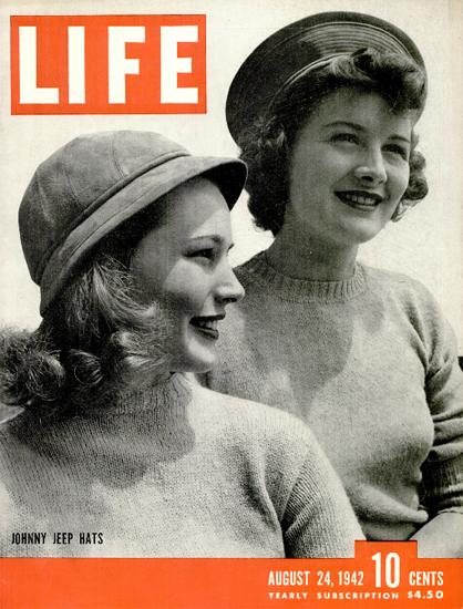 Jonny Jeep Hats 24 Aug 1942 Copyright Life Magazine   Life Magazine BW Photo Covers 1936-1970