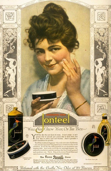 Jonteel Combination Cream Beauty | Sex Appeal Vintage Ads and Covers 1891-1970