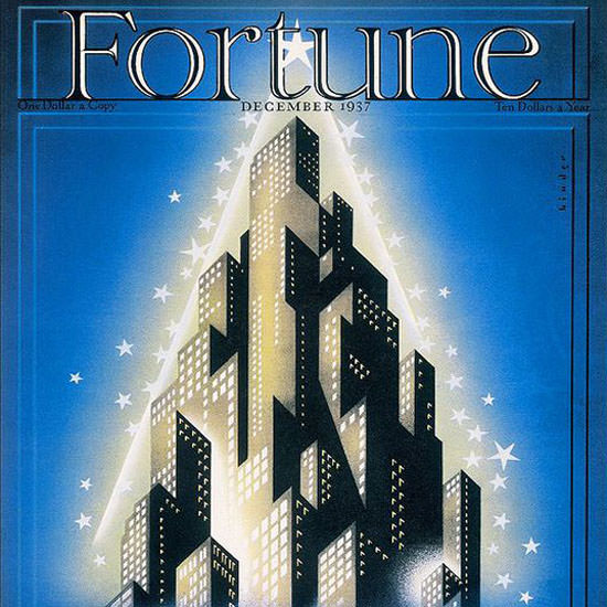 Joseph Binder Fortune Magazine December 1937 Copyright crop | Best of 1930s Ad and Cover Art