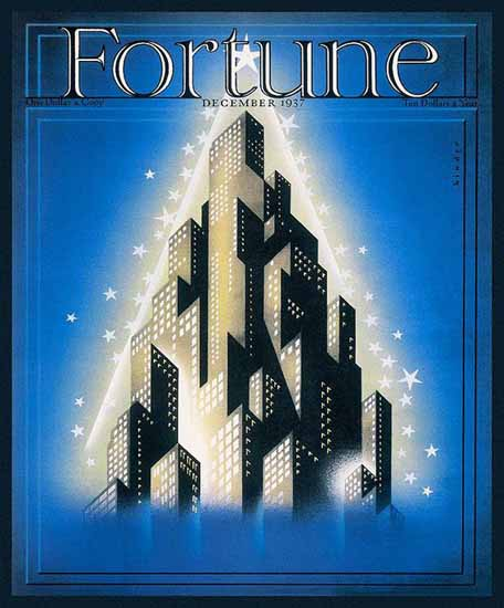 Joseph Binder Fortune Magazine December 1937 Copyright | Fortune Magazine Graphic Art Covers 1930-1959